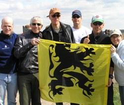 Holding Flag